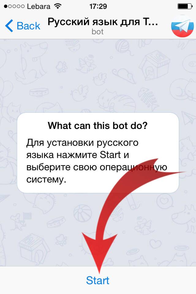 Телеграмм на айфон как сделать на русском