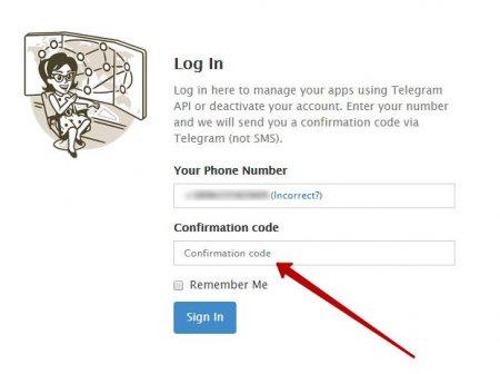 Пароль для удаления аккаунта Telegram