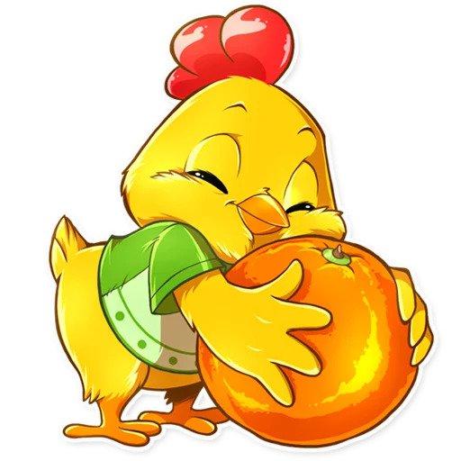 Рисунки прикольного цыпленка